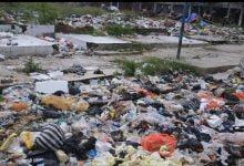 Tumpukan Sampah Terbakar di Bekas Lahan Pasar Ciranjang