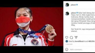 Windy Cantika Torehkan Medali Perdanan untuk Indonesia di Olimpiade Tokyo