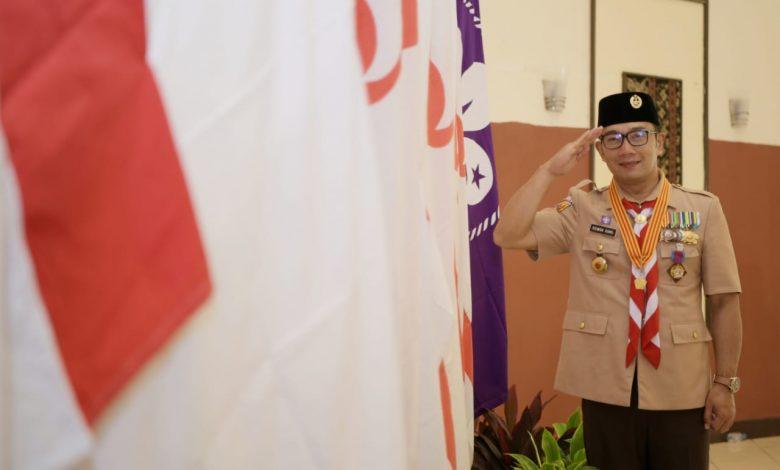 60 TAHUN PRAMUKA INDONESIA, Ridwan Kamil Disematkan Lencana Karya Bakti