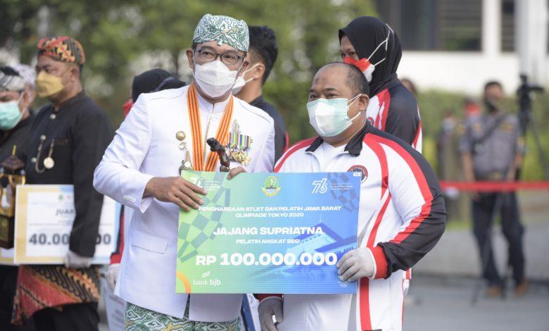 Kadeudeuh Gubernur Jabar Bagi Peraih Medali Olimpiade 2020