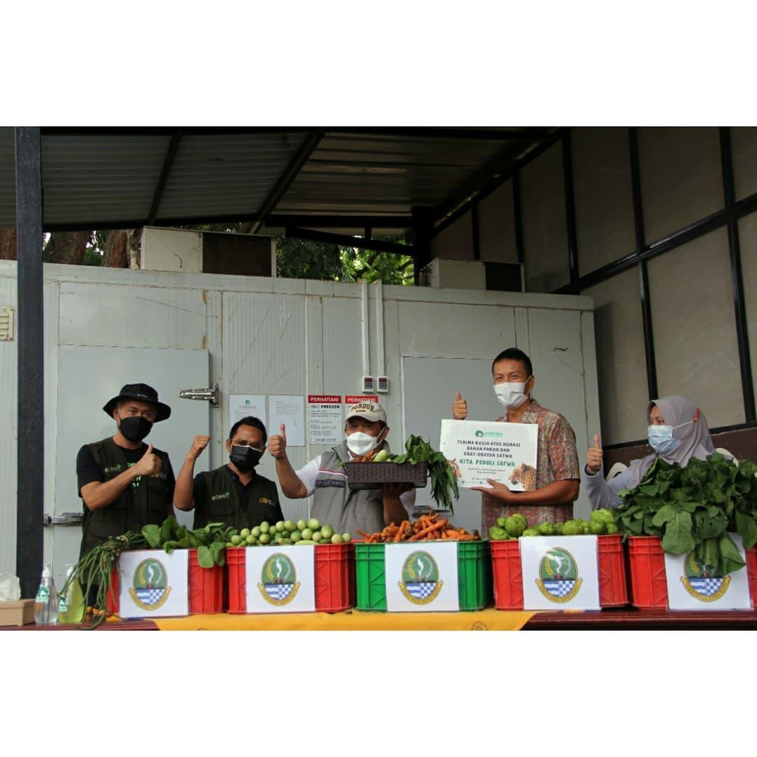 Kepala Dinas Kehutanan Provinsi Jawa Barat Epi Kustiawan beli sayur dari Petani terdampak COVID 19