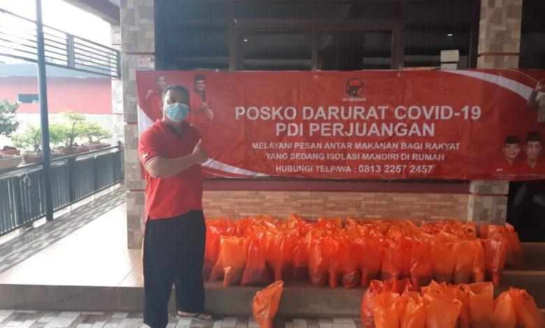 Ketua PAC PDI Perjuangan Ibun, H. Dadang Hermawan, di PAC PDI Perjuangan Kecamatan Ibun.