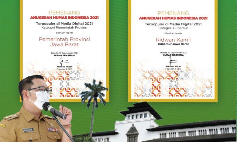 Pemda Provinsi Jabar Raih Anugerah Humas Indonesia 2021