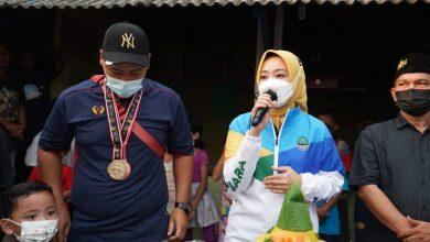 Atalia Kunjungi Kediaman Peraih 3 Medali Emas PON