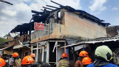 Kebakaran di Pagarsih Kota Bandung, 5 Rumah Ludes