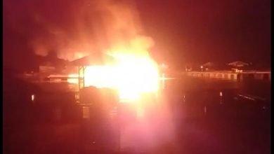 Kolam Jaring Apung Terbakar